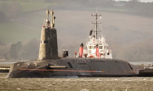 HMS Vengance, which carries the Trident nuclear missile. The warhead is being secretly upgraded, according to the Nuclear Information Service.