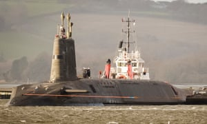 HMS Vengeance. A Vanguard-class submarine that carries the Trident ballistic missile.