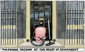 Steve Bell cartoon 10/04/2020: Dominic Raab as vacuum cleaner