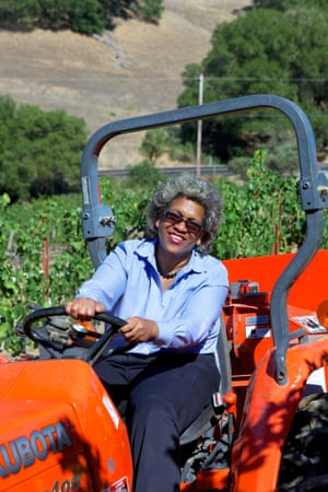 Theodora Lee at her vineyard in California. She says she is returning to her family's farming roots.