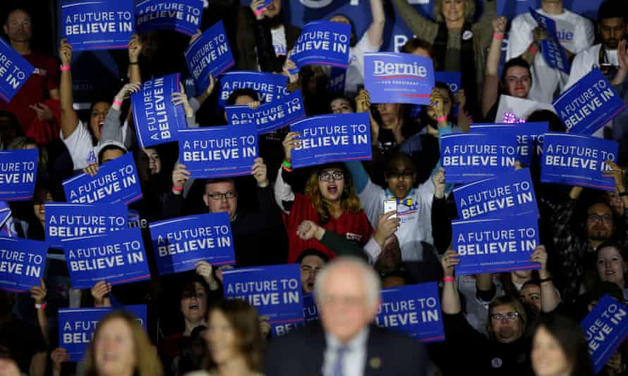 Bernie Sanders and supporters