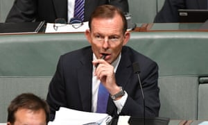 Former prime minister Tony Abbott during question time in the house of representatives at parliament house in Canberra, 16 October 2017.