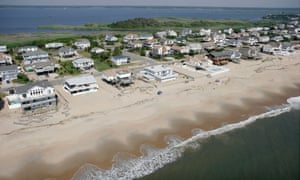 Oceanfront homes in Virginia Beach, Virginia. Houses on the US coastline could risk being flooded every two weeks.