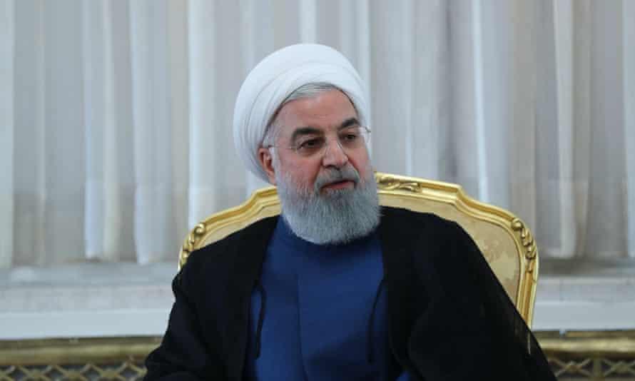The Iranian president Hassan Rouhani