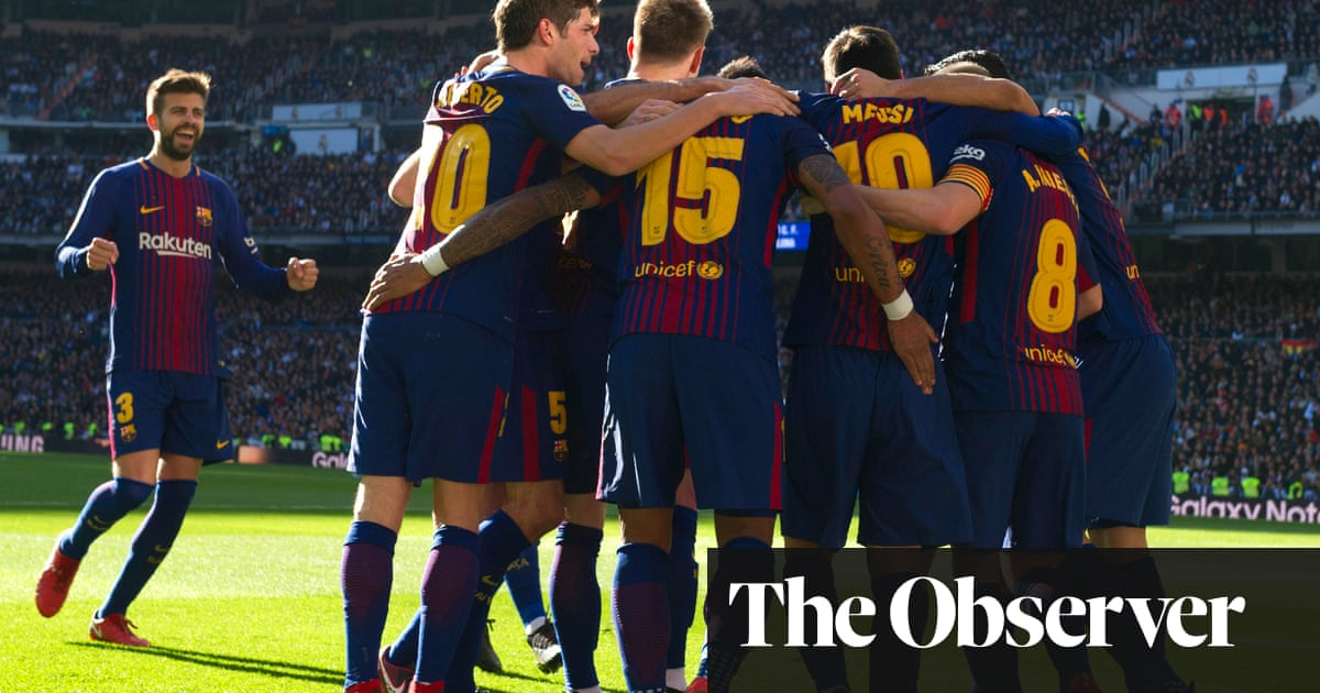 63a9c5daf11 Barcelona rout Real Madrid to go 14 points clear of clásico rivals ...