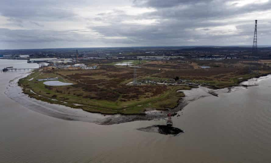 The Swanscombe Peninsula in Kent, proposed site of a £3.5bn theme park project.