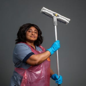 Theresa Dzade, one of the cleaning staff