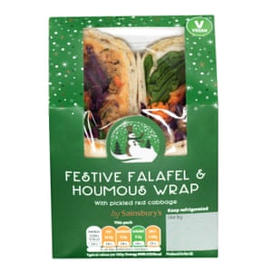 Sainsburys - Festive Falafel Wrap