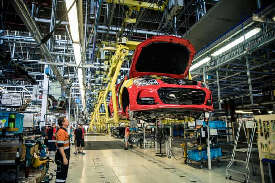 The final Holden Commodore comes off the line at the Elizabeth plant in 2017.