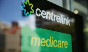 A Medicare and Centrelink office sign