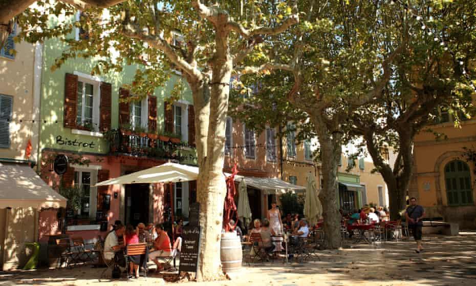 The village square in Collobrières.