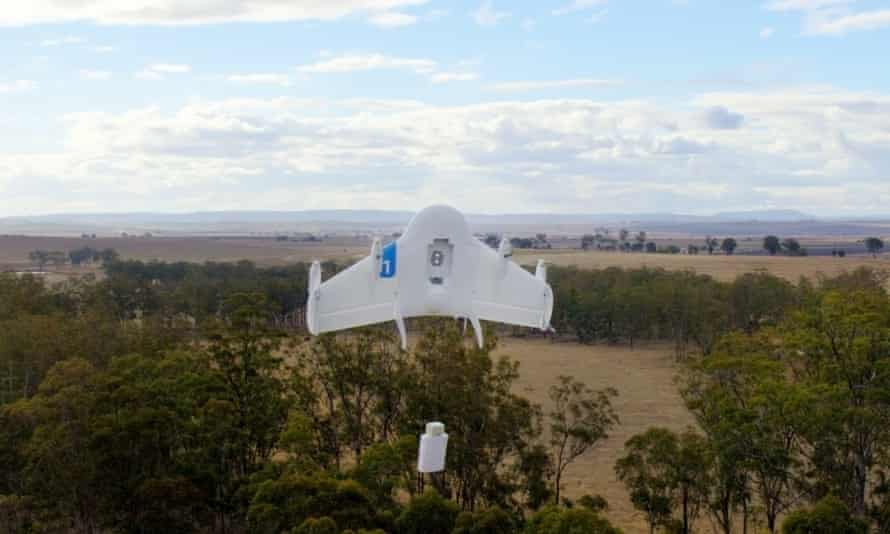 One of Google's Project Wing drones.