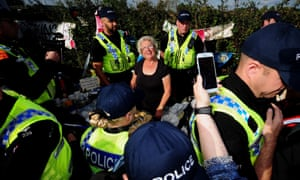 Police move tea lady Jackie Brooks from her table