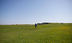 Running the first of two final warm-up races – the 45-mile race along the Jurassic coast in Devon – before the UTMB