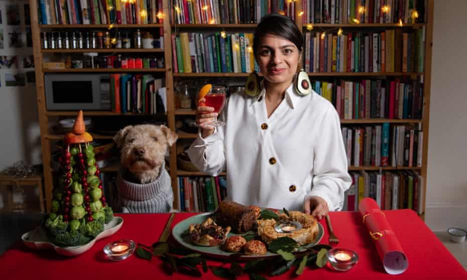 Meera Sodha taste-testing vegan food