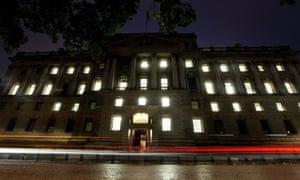UK Treasury building in London