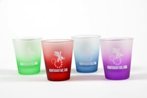 The shop sells a wide range of shot glasses