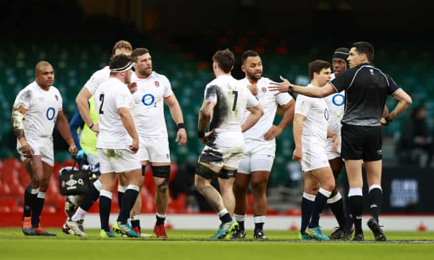 England were frequently at odds with the referee during the Six Nations match against Wales at the Principality Stadium.