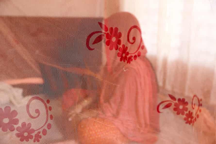 A textile worker in her house inBangladesh