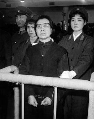 Mao's widow, Jiang Qing, is tried in 1980.