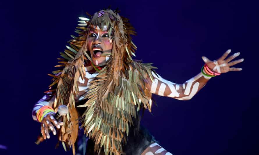 Unending eccentricity ... Grace Jones performing at Bestival.