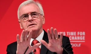 John McDonnell speaks at an election campaign event in London