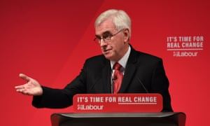 John McDonnell speaking at a campaign event