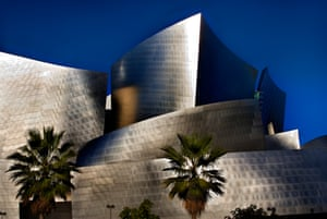 Frank Gehry's Walt Disney Concert Hall in Los Angeles, whose bold exterior 'camouflages a fundamentally rectangular and acoustically successful space'.