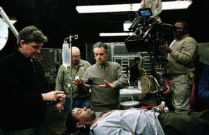Denzel Washington & Jonathan Demme, on set of The Manchurian Candidate 2004.
