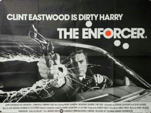 A British quad poster for the 1976 Clint Eastwood movie The Enforcer, designed by Bill Gold for Warner Bros.