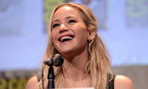 Jennifer Lawrence at the The Hunger Games: Mockingjay Part 2 panel in San Diego on Thursday.