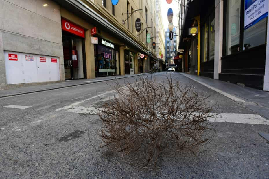 An empty Degraves Street in Melbourne