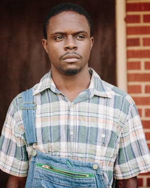 Actor Darrius Bradshaw, who played the role of Roger in the Moore's Ford lynching reenactment this year.