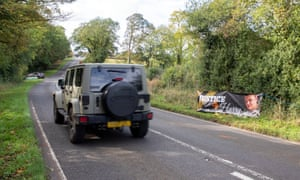 The road outside the Royal Air Force at Croughton, in Northamptonshire, where Harry Dunn, 19, died when his motorbike was involved in a head-on collision in August. Anne Sacoolas, the motorist allegedly responsible for the crash, was given diplomatic immunity and allowed to travel to the US after the crash.
