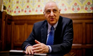 Lord Carlile being interviewed at the House of Lords