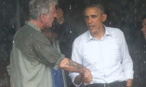 Barack Obama and Anthony Bourdain in Hanoi, Vietnam, 2016, after taping an interview.