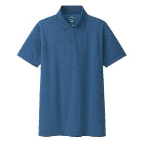 blue polo shirt Uniqlo