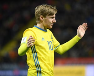 Sweden's Emil Forsberg will have an important role to play going forward against Italy.