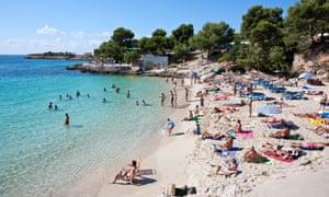 A beach in Mallorca