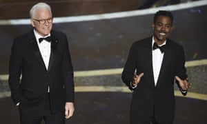 Oscars twofer … Steve Martin and Chris Rock deliver their take on the traditional Academy Awards opening monologue.