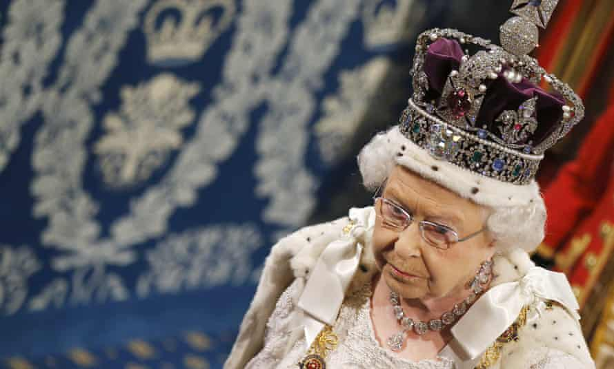 The Queen proceeds through the Royal Gallery before the State Opening of Parliament in the House of Lords. 'It would be a start to declare there will be no more ego-engorging honours for bosses of these corporations.'