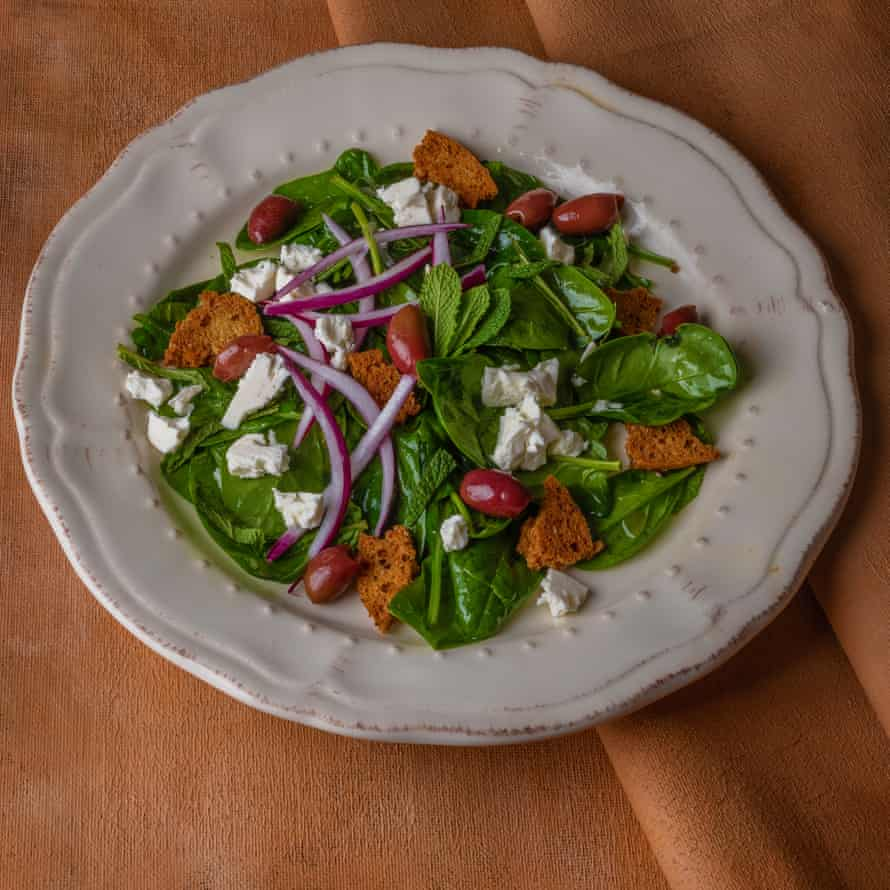 Wilted spinach salad.