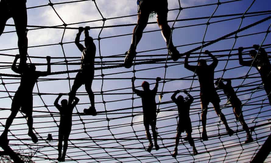 Hang tough - crossing a rope bridge