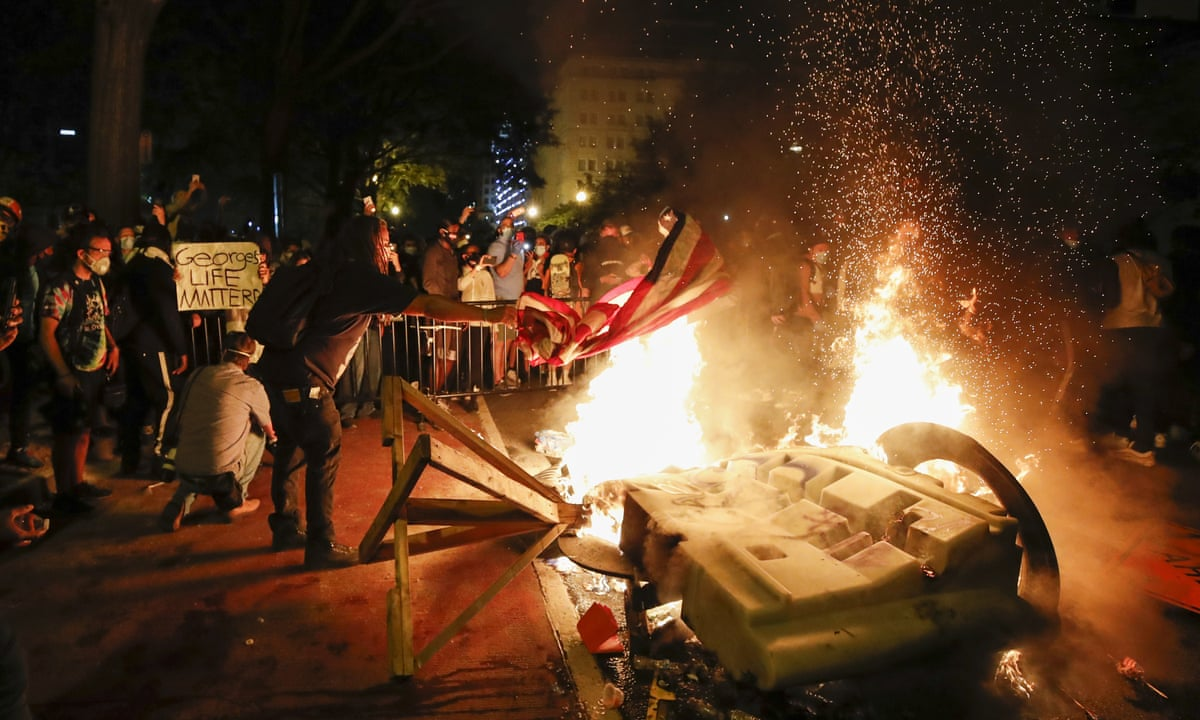 George Floyd: fires burn near White House as US-wide protests rage – as it happened | US news | The Guardian