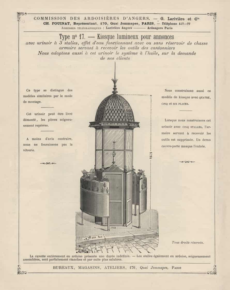 'Phallic' … plan for an original pissoir.