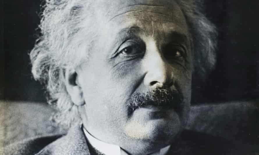 Simon's photograph of Albert Einstein.