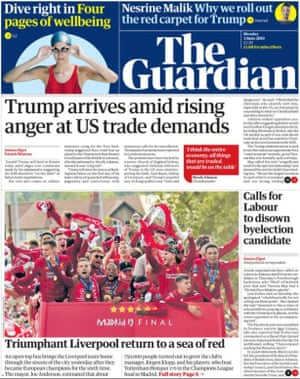 Guardian front page 3/6/19