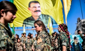 SDF fighters during the victory celebration
