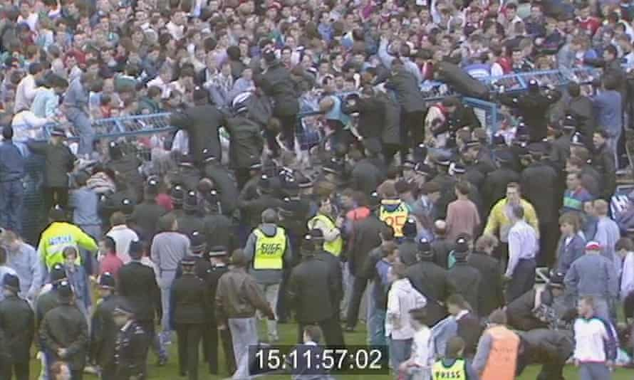 Footage released by the Hillsborough inquest.