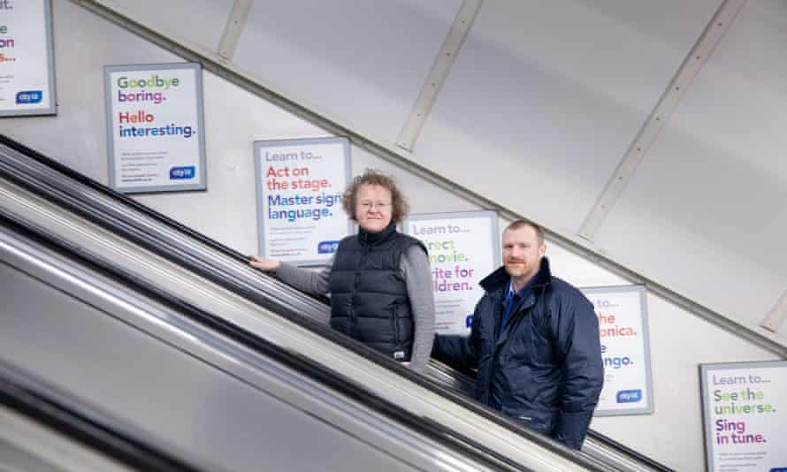 'It's quite a significant behaviour to change' … says Paul Stoneman, pictured with fellow TfL strategic planner Celia Harrison at Holborn station in London.